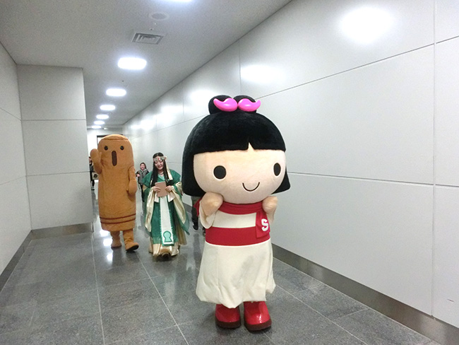 まりこふん&しだみこちゃん&埴輪氏武、中部国際空港セントレアライブ(2月14日)