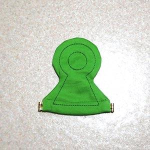 前方後円墳コインケースの写真