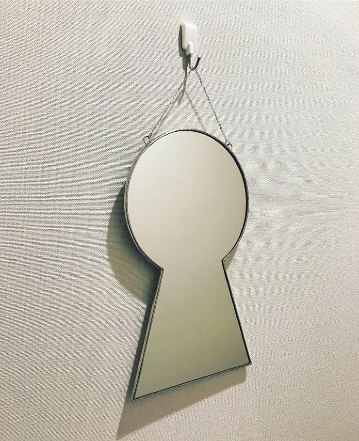 前方後円墳ミラー(鏡)