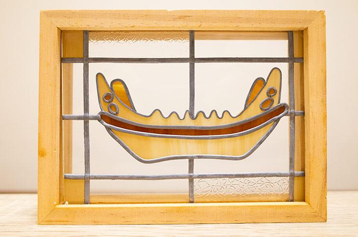 船形埴輪の額装