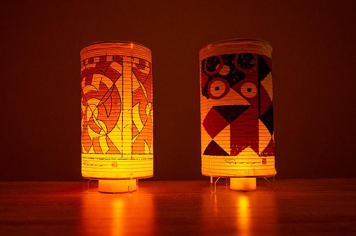 装飾古墳文様の火袋