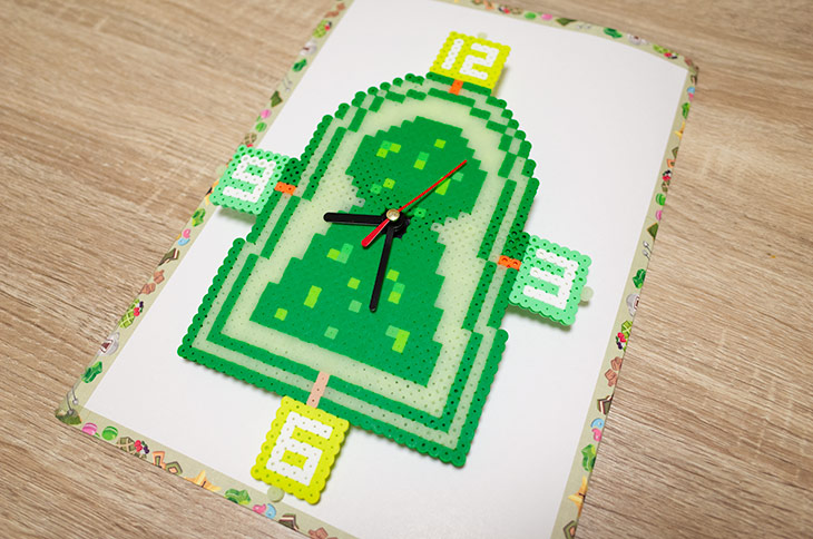 アイロンビーズ古墳時計